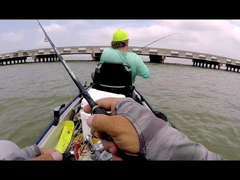 TROUT STACKED AT BRIDGE | Fishing Rockport Texas