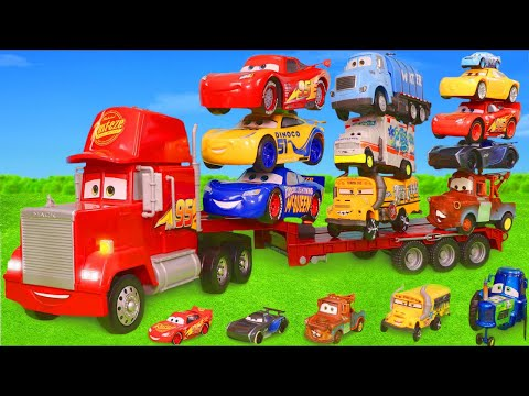 Cars Toys Surprise: Mack Truck, Lightning McQueen, Fire Truck, Tractor & Train Play for Kids