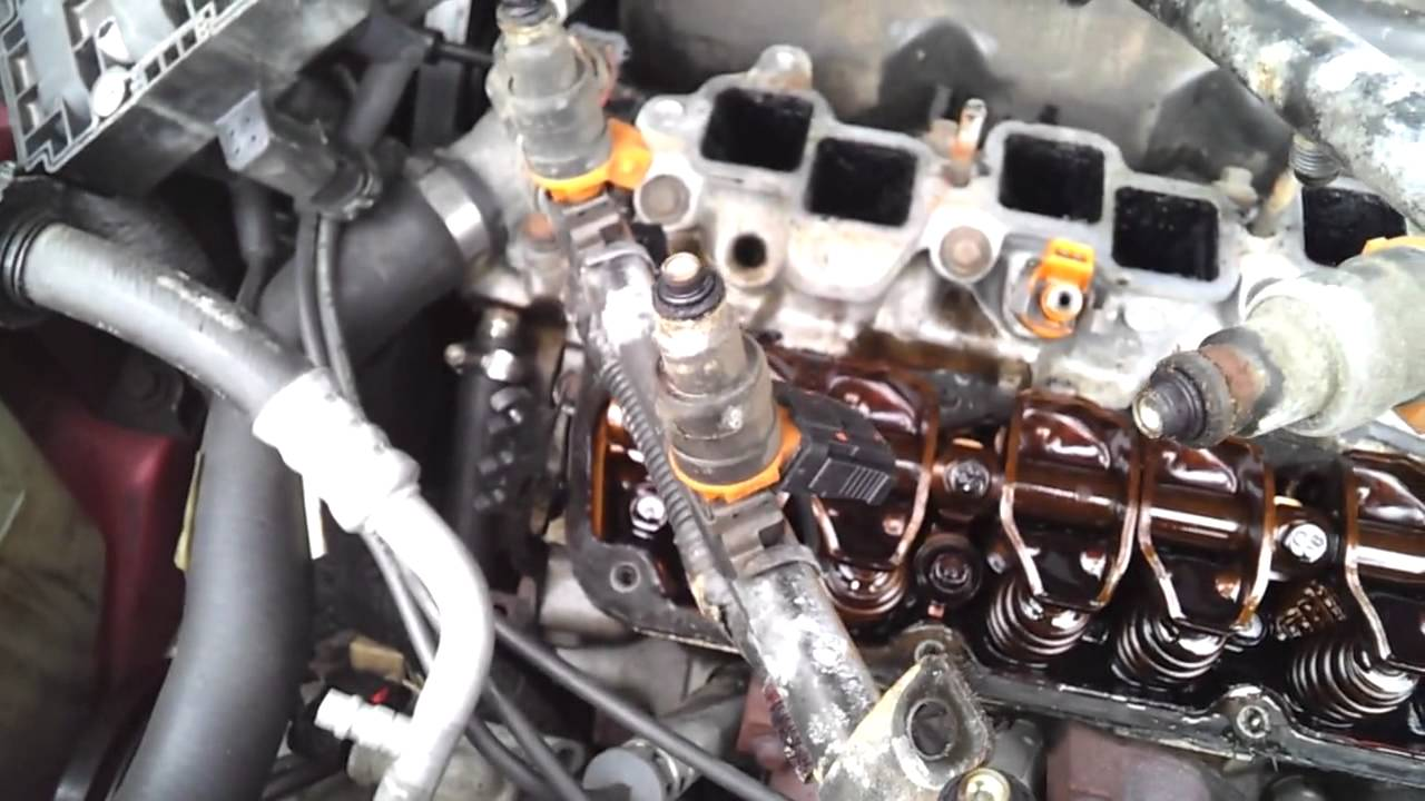 Caravan Water Pump Wiring Diagram Upper Intake Removal 1998 Chrysler 3 3l Part 1 Youtube