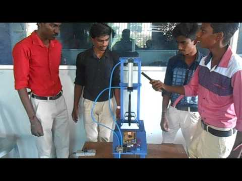 MECHANICAL ENGG PROJECT PNEUMATIC  RIVITING MACHINE HI-TECH RESEARCH FOUNDATION