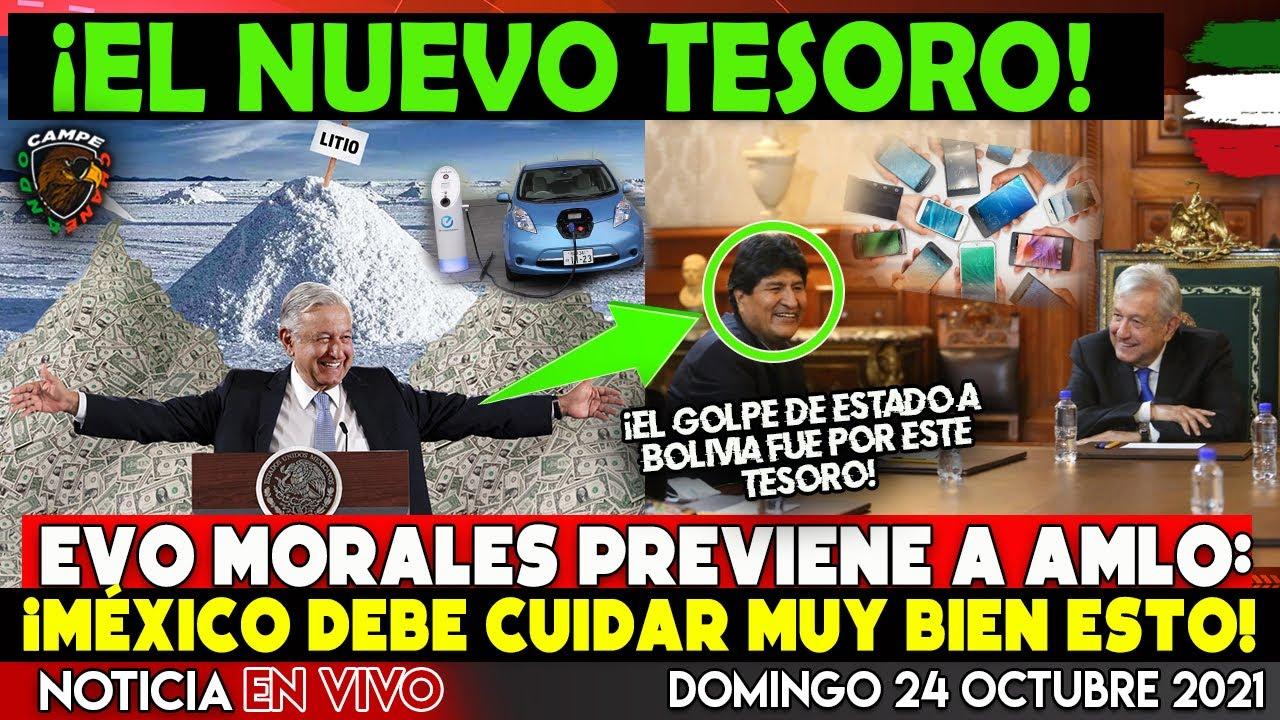 ¡DE ÚLTIMA HORA! EVO MORALES LE ADVIERTE A AMLO ¡DE CUIDAR EL NUEVO TESORO DE MÉXICO! NOTICIA HOY