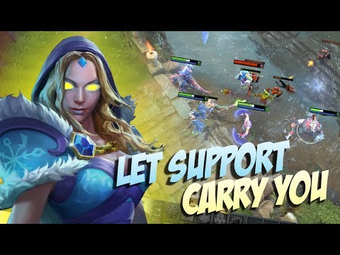 DONT MESS WITH SUPPORT Crystal Maiden 16 Kill By BabyKnight 706 Top Pro Player Dota 2 YouTube