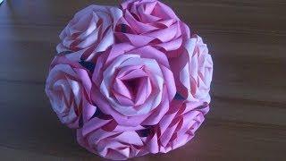 Оригами Роза Из Бумаги Простые Цветы Своими Руками. Origami Rose(Оригами роза из бумаги. Простые, но красивые розы из бумаги своими руками. Показываю и рассказываю. Подробны..., 2014-03-24T20:07:17.000Z)