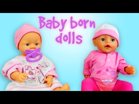 Video for girls with Baby Born dolls for girls.