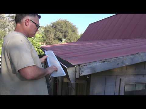 Installing Stainless Steel Gutter Guards On Corrugated Metal Roof