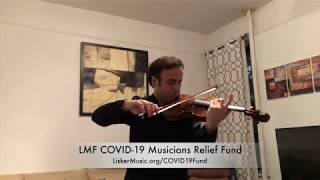 LMF COVID-19 Musicians Relief Fund - Bela Horvath (violinist)