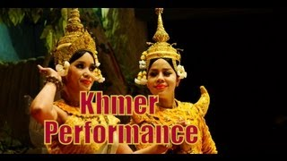 Traditional Khmer Dance, Music and Folk Cultural Performance (Apsara Dance) in Siem Reap, Cambodia