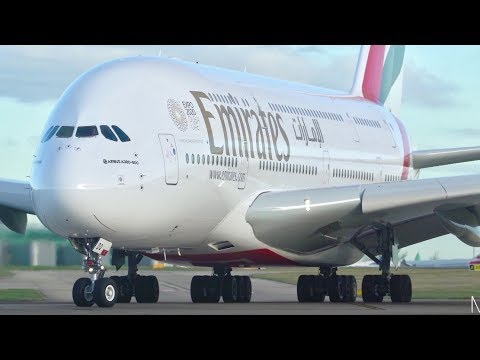 20 VERY CLOSE UP TAKEOFFS- Manchester Airport- Spool Ups- Runway 23L