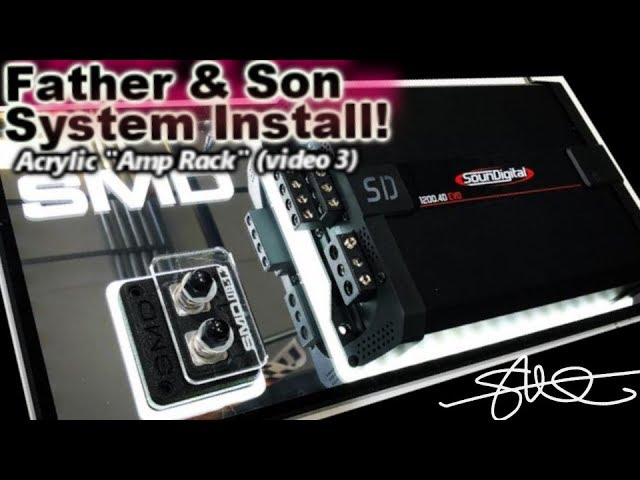 father-son-fun-first-car-stereo-install-1990-honda-accord-mirror-acrylic-amp-rack-video-3