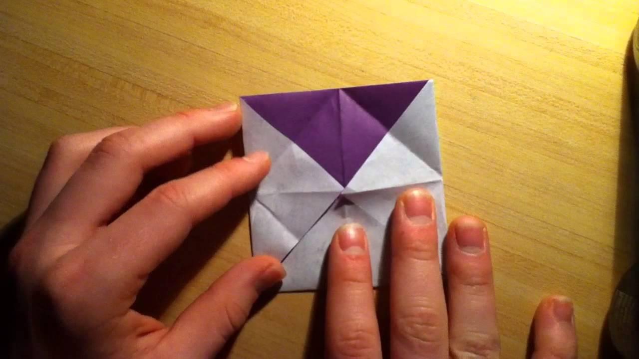 faire une cocotte en papier pliage papier origami youtube. Black Bedroom Furniture Sets. Home Design Ideas