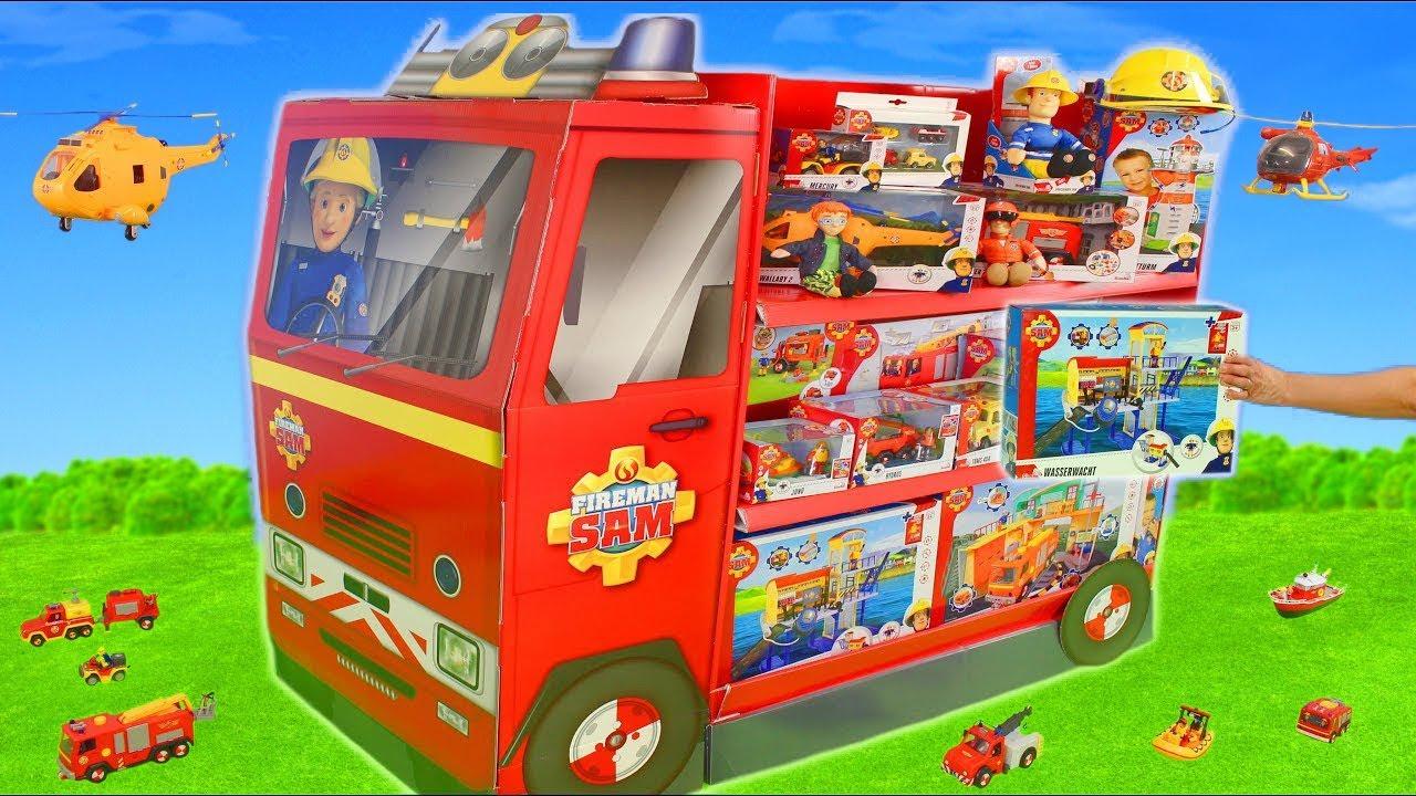 le pompier sam jouets camion de pompier jouets pour enfants fireman sam toys youtube
