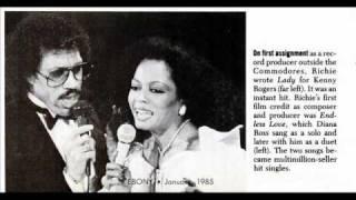 Diana Ross & Lionel Richie: Endless Love (Richie, 1981) - Vintage Images