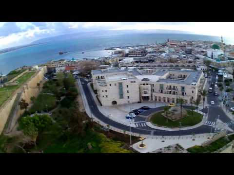 HUBSAN H501S quadcopter , drone Israel, old Acre, wall, windy,