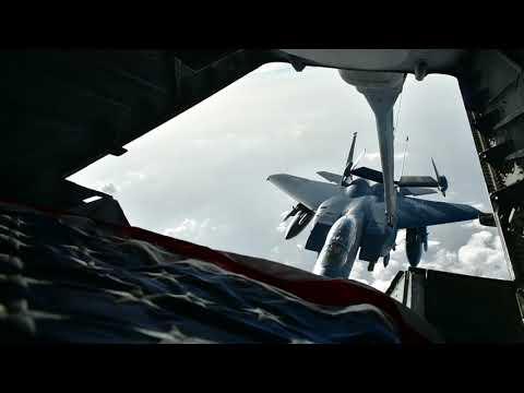 DFN:BROLL: KC-10 Refuels F-15 Eagles, UNITED ARAB EMIRATES, 04.21.2018