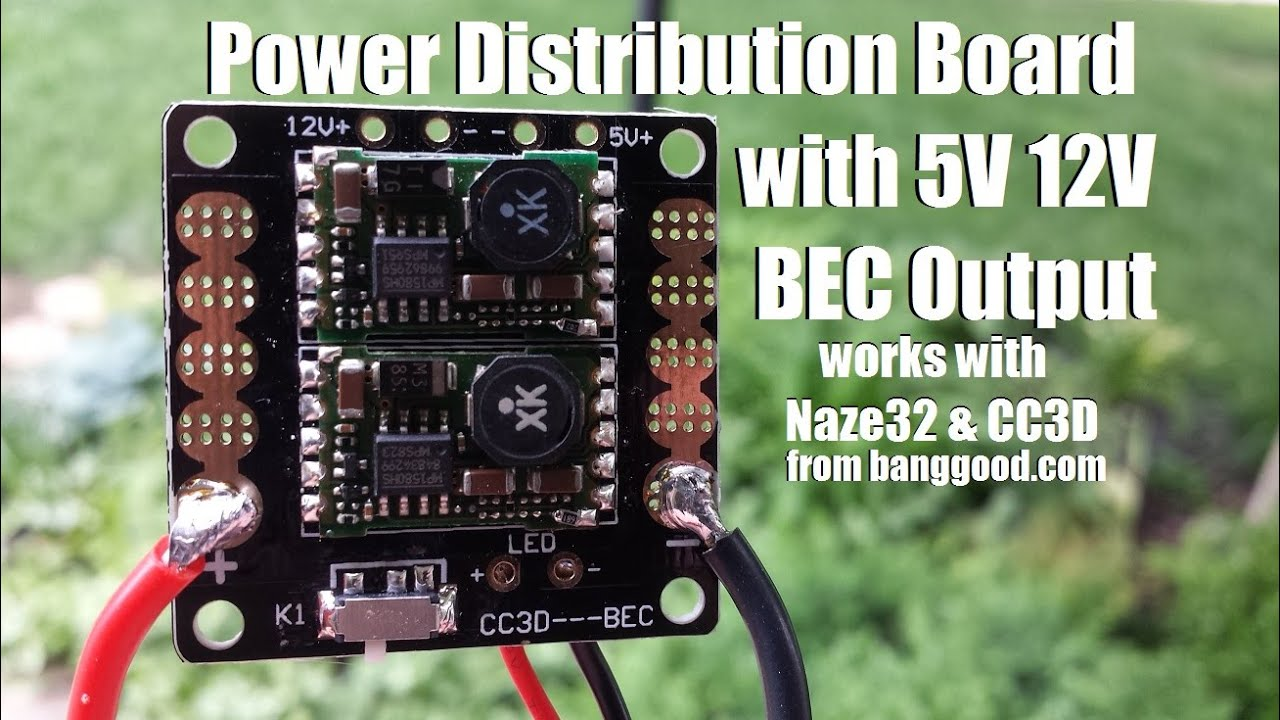 hight resolution of power distribution board with 5v 12v bec output from banggood com cc3d bec wiring diagram