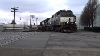 Norfolk Southern local crosses CSX Indy Line Muncie Indiana