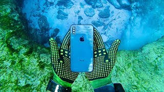 Found iPhone X Underwater in River While Scuba Diving! (Returned to Owner)