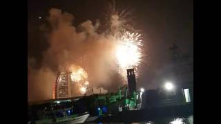 2017 brj Al arb fireworks in dubai with fishing tour dubai yachts Fishing boats jetskies company