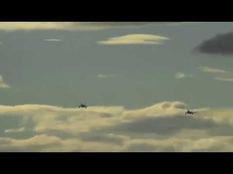 RAAF F/A-18A Hornets Fly Over RAAF Base...