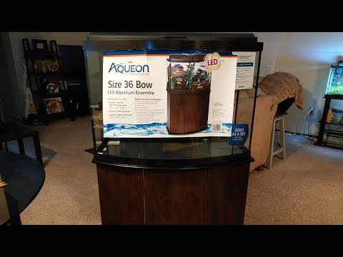 Aquarium Update! Aqueon 36 Gallon Bowfront Ensemble