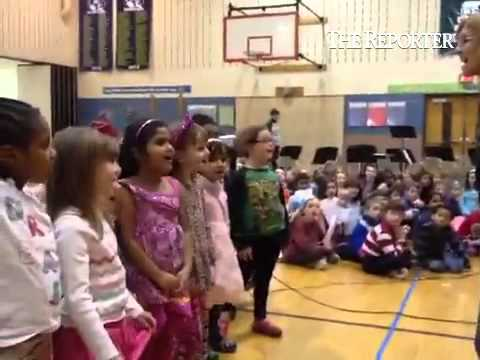 Gwynedd Square elementary school students participate in an anti-bullying assembly on Friday