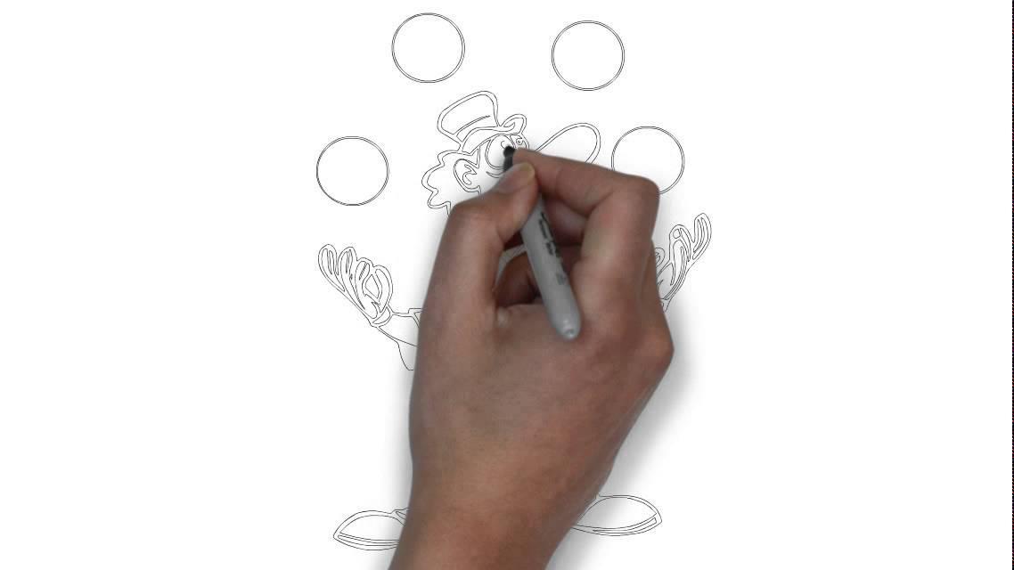 Comment dessiner un clown jonglant youtube - Dessiner un clown ...
