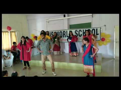INDUS WORLD SCHOOL teachers performance on children's day 2016 | Ahmednagar