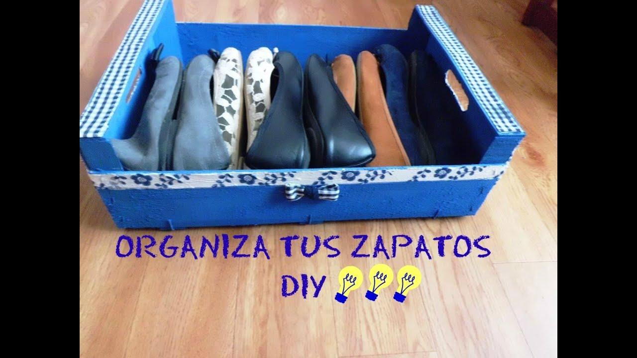 Organizador de zapatos en espacios peque os diy youtube for Ideas para el hogar espacios pequenos
