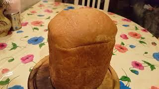 Красивый пышный хлеб в хлебопечке LG.