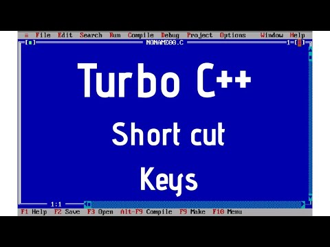 Shortcut Keys Of Turbo C++ || How To Fix Mouse Bug? || 💻💻💻