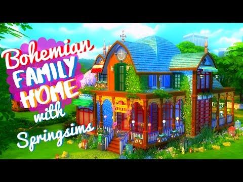 sims 4 house build bohemian family home w springsims