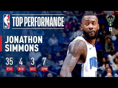 Jonathan Simmons Gets Buckets Like It's MAGIC For A Career High 35!