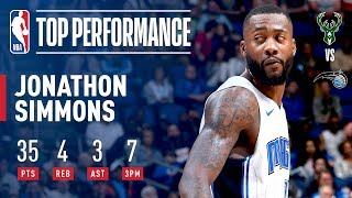 Jonathan Simmons Gets Buckets Like It's MAGIC For A Career High 35!