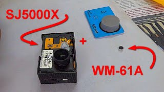 установка микрофона WM-61A Panasonic в  камеру SJCAM SJ5000X Elite.