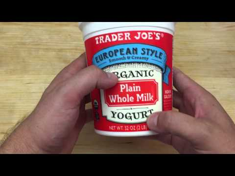 Trader Joe's European Style Organic Plain Whole Milk Yogurt - Review