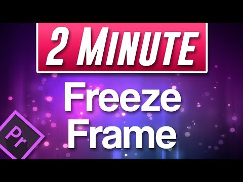 How to FREEZE Frame in Premiere Pro 2019