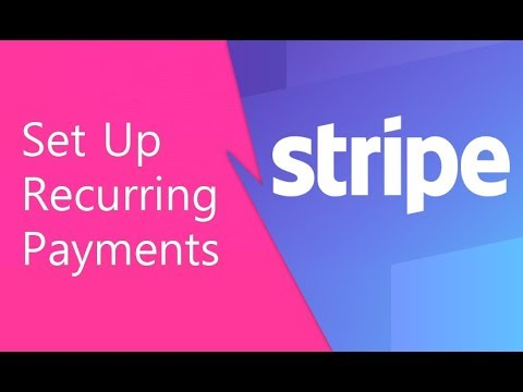 Stripe Recurring Payments (Set Up)
