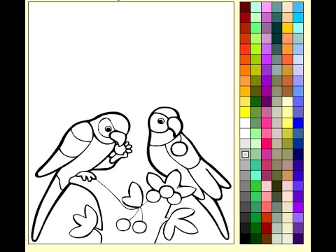 Parrots Coloring Pages For Kids – Parrots Coloring Pages