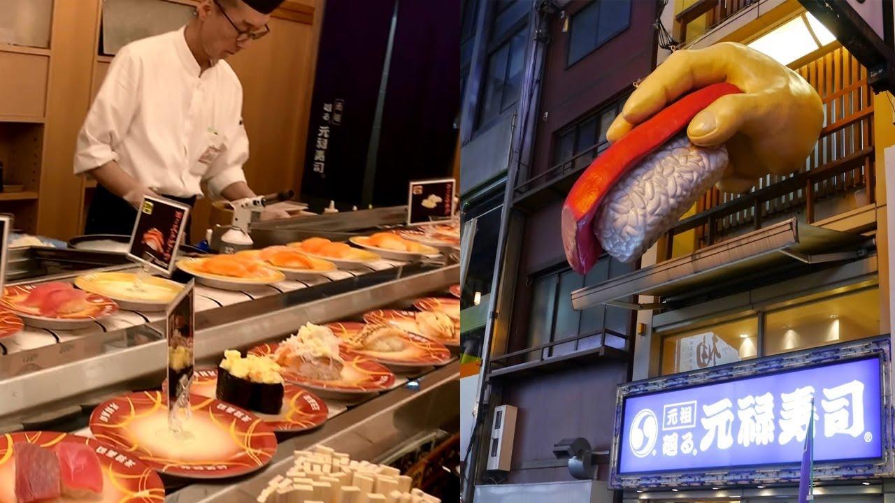 Japan's First Kaiten Sushi Restaurant: Mawaru Genroku Sushi  【大阪道頓崛美食】元祿壽司 - 日本平價CP值高迴轉壽司(要 ...