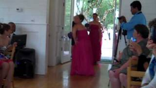 Bridal Party Entrance to Crazy in Love