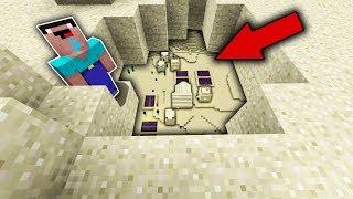 Minecraft NOOB vs PRO : NOOB FOUND THIS SECRET VILLAGE UNDER THE DESERT! Challenge 100% trolling