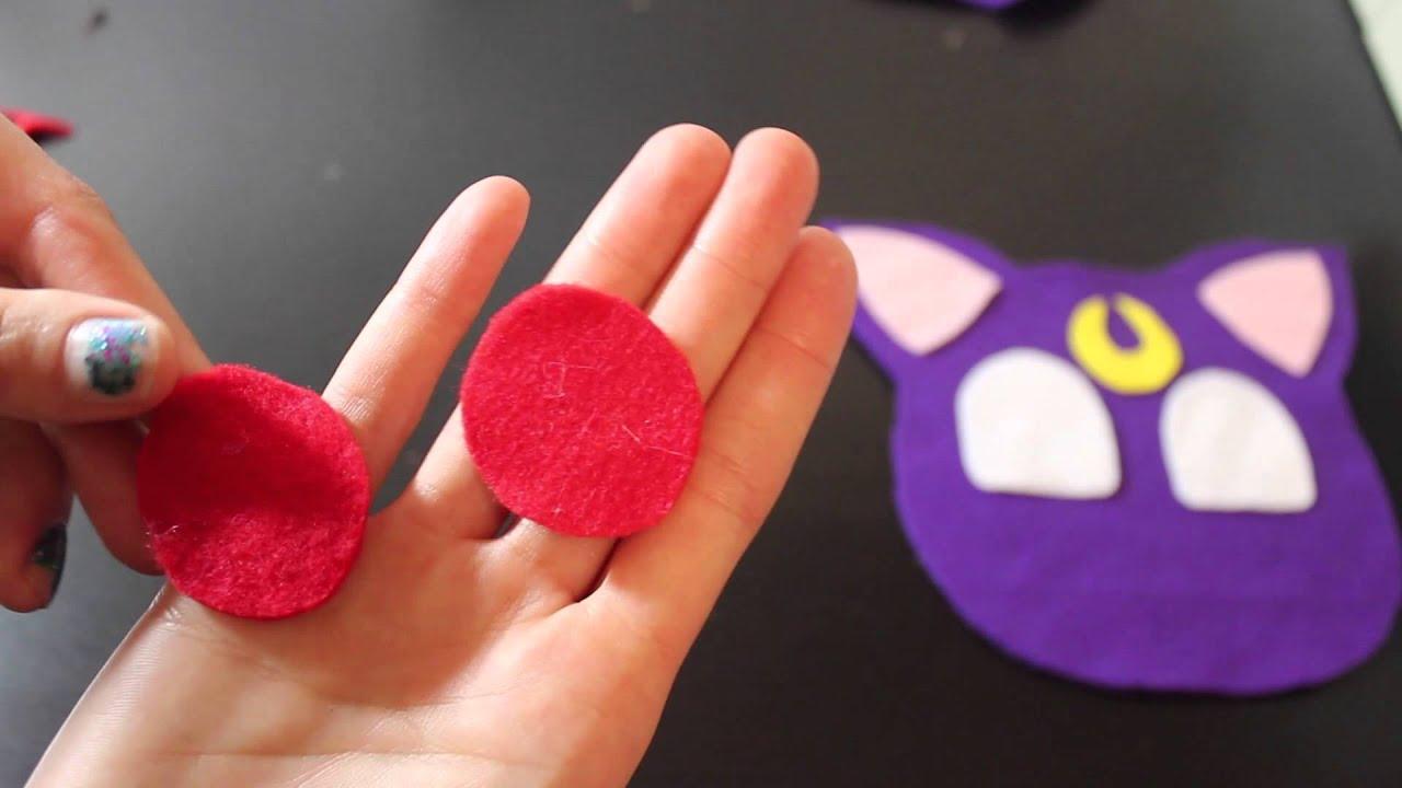how to make luna plush from sailor moon diy kawaii cat stuffed