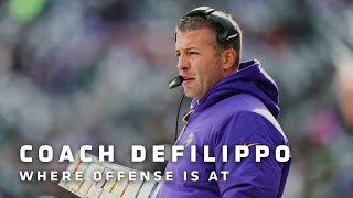 DeFilippo on Where Offense Is At, Cook's Return, Cousins' Play So Far, Beebe's Potential | Vikings
