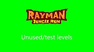 Rayman Jungle Run unused/test levels