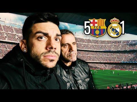 MADRIDISTAS REACCIONANDO AL BARCELONA 5-1 REAL MADRID ... EN EL CAMP NOU
