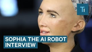 We Talked To Sophia - The AI Robot That Once Said It Would 'Destroy Humans'