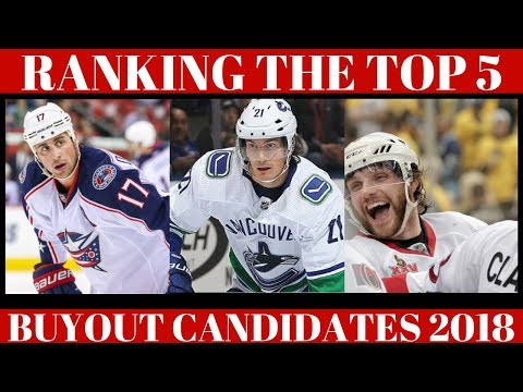 Ranking Top 5 NHL Players - Buyout Candidates 2018