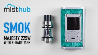 SMOK Majesty 225W TC Kit with TFV8 X-Baby Tank Video