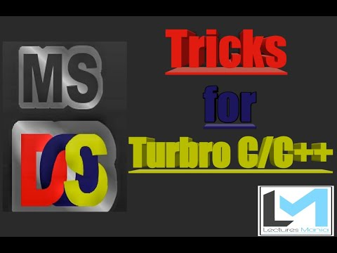 Tips And Tricks For Turbo C/C++.. Go Through Description Pls...