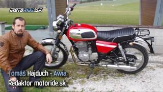 Motoride.sk: Nová Jawa 350 OHC 2017 na Považi